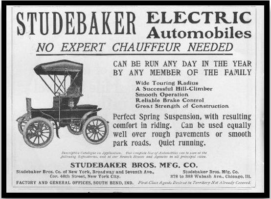 1903 Studebaker Electric Advert