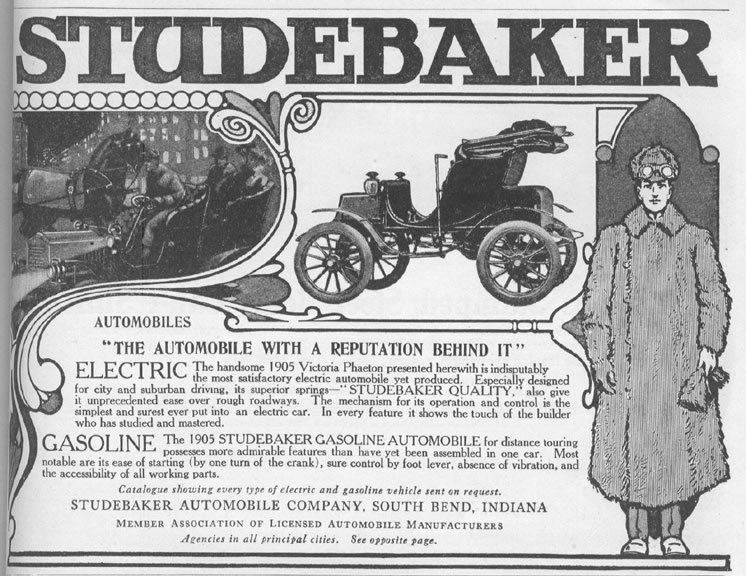 1905 Studebaker Electric Advert