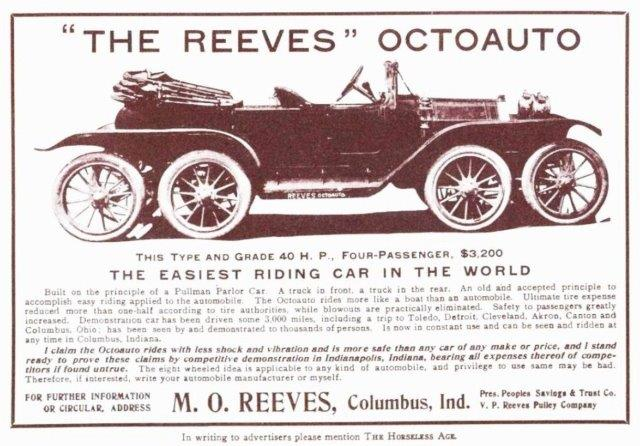 Westrand Car Show - 1911 Reeves Octoauto Advert