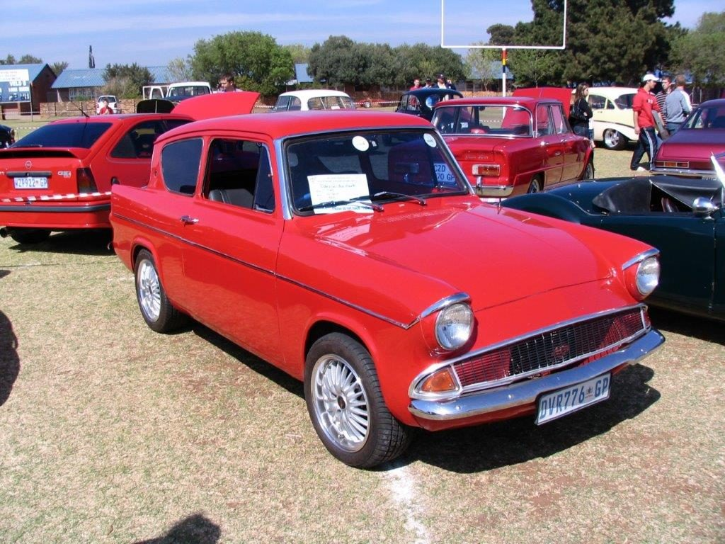 Ford Anglia , WestRand Car Show, Veteran Cars, Vintage Cars, Classic Cars, Street Customs, SuperLDVs, Hot Rods, Muscle Cars, Motorbikes,