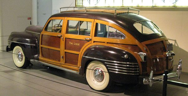 Westrand Car Show 1942 Chrysler Town and Country - Barrelback Woodie